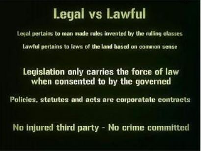 Legal vs. Lawful