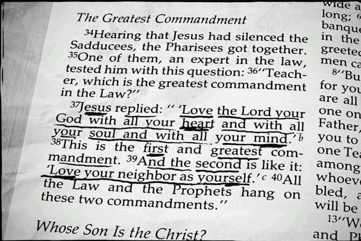 The Greatest Commandment