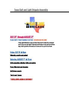 Texas Salt & Light Brigade Assembly @ Estes Ranch