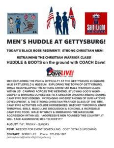Men's Huddle with Coach @ Gettysburg | Gettysburg | Pennsylvania | United States
